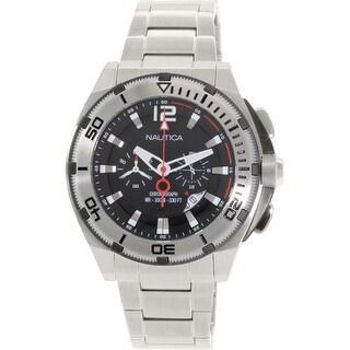 Nautica Men's N31517G Silver Stainless-Steel Quartz Dress Watch