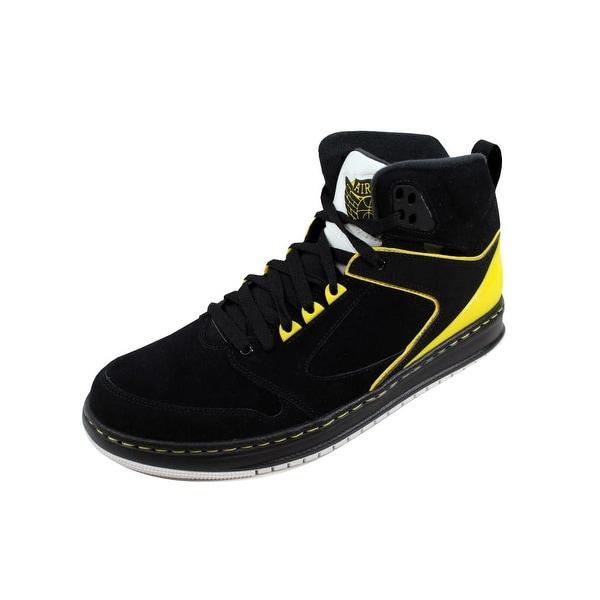 Nike Men's Air Jordan Sixty Club Black/Black-Yellow-Metallic Silver 535790-050 Size 11.5
