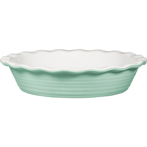 "Palais Dinnerware 'Tarte' Collection, Ceramic Pie Dish - 10"" Diameter (Mint Green)"