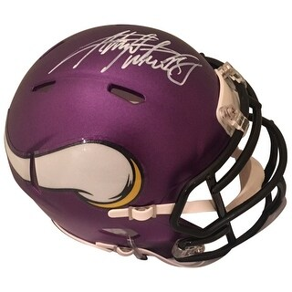 Adrian Peterson Autographed Minnesota Vikings Signed Football Mini Helmet PSA DNA COA 1