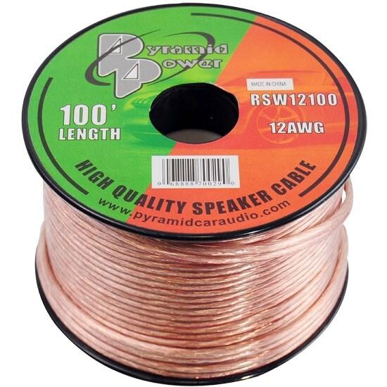12 Gauge 100 ft. Spool of High Quality Speaker Zip Wire