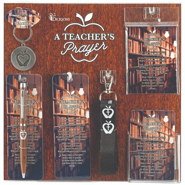 """13"""" Brown and Black Teachers Prayer Display and Assortment Board - N/A"""