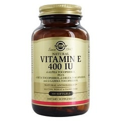 Solgar Vitamin E 400 Iu Mixed (400 Iu D-Alpha Tocopherol & Mixed Tocopherols) 100 Softgels