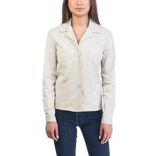 Prada Women's Cotton Jacket Taupe - 10