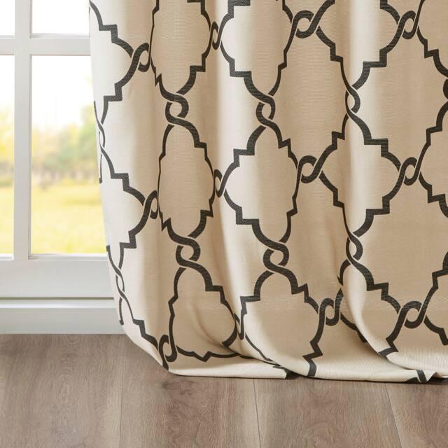 Madison Park Westmont Fretwork Print Pattern Single Curtain Panel