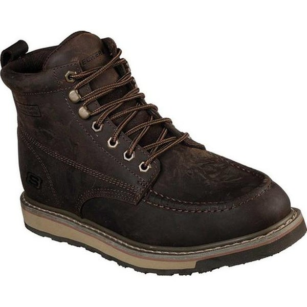 Shop Skechers Men s Work Relaxed Fit Boydton Boot Dark Brown - Free  Shipping Today - Overstock - 26270688 7f61bee8df