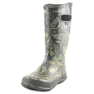 Bogs Snakes Youth Round Toe Synthetic Multi Color Rain Boot