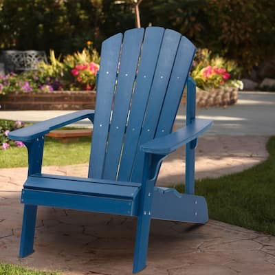 Bonosuki Garden Faux Wood Adirondack Chair All-Weather Resistant