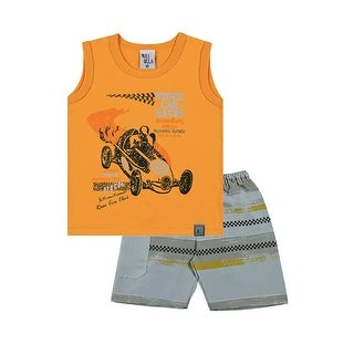 Toddler Boy Outfit Tank Top and Shorts Set Pulla Bulla Sizes 1-3 Years