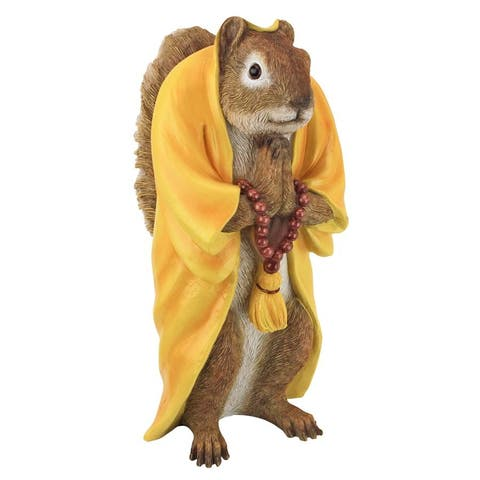 Design Toscano Sensei Monk Zen Garden Squirrel Animal Statue