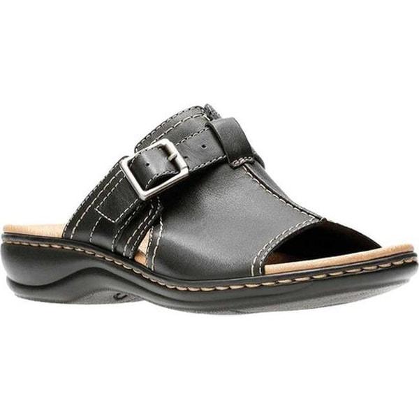 c3b5c84a Shop Clarks Women's Leisa Gianna Slide Black Leather - On Sale ...