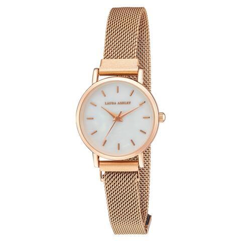 Laura Ashley Women's Sleek Blush 29mm Mesh Magnet Bracelet Watch