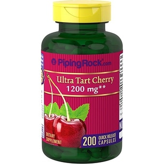 Piping Rock Ultra Tart Cherry 1200 mg 200 Quick Release Capsules Dietary Supplement