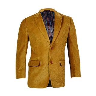 Sean John Men's Peaked Velvet Sports Coat (38S, Mustard) - MUSTARD - 38S