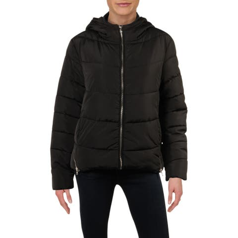 Guess Womens Puffer Coat Winter Cold Weather