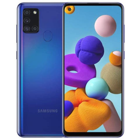 Samsung Galaxy A21s A217F 32GB Dual SIM GSM Unlocked Android Smartphone (International/US LTE) - (Certified Refurbished)