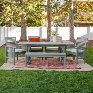Link to Hampton 6-Piece Acacia Patio Dining Set by Havenside Home Similar Items in Patio Furniture