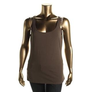 Nic + Zoe Womens Solid Sleeveless Tank Top