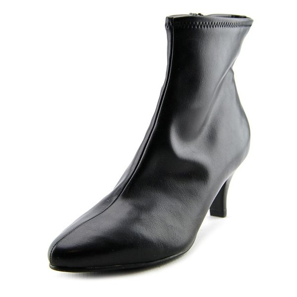 Impo Navika Women Pointed Toe Synthetic Black Ankle Boot