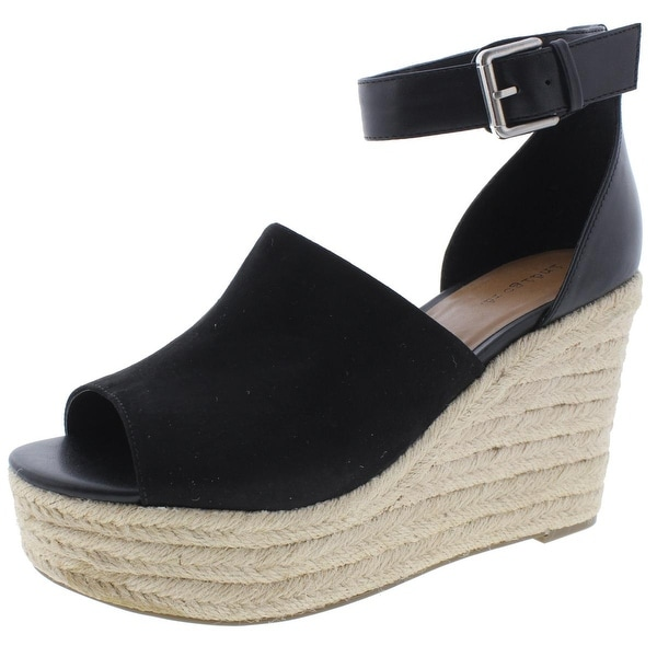 Indigo Rd. Womens Airy Wedge Sandals Leather Espadrille