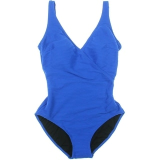 Gottex Womens Ribbed Solid One-Piece Swimsuit - 8