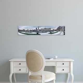 Easy Art Prints Panoramic Images's 'Buckingham Palace in winter, City of Westminster, London, England' Canvas Art