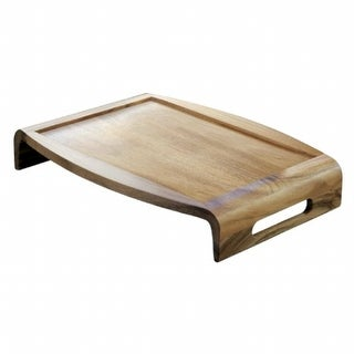 Lipper 1164 Acacia Reversible Wood Serving Tray