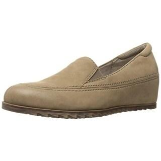 Naturalizer Womens Harker Loafers Nubuck Hidden Wedge