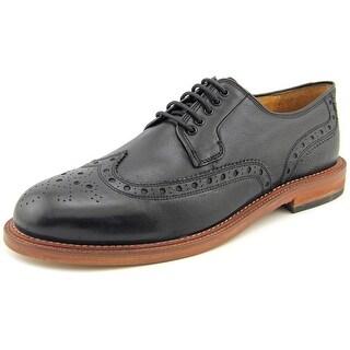 Hudson O'Connor Men Round Toe Leather Black Oxford