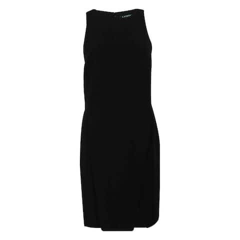 Ralph Lauren Women's Sleeveless Crepe Dress - Black