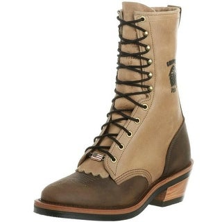 Chippewa Mens Packer Leather Two Tone Cowboy, Western Boots - 11 medium (d)