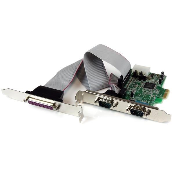 Startech Pex2s5531p 2S1p Native Pci Express Parallel Serial Combo Card W/ 16550 Uart