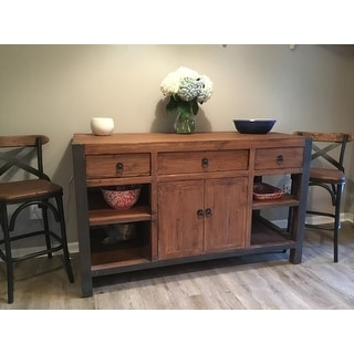 Willow Reclaimed Wood And Iron 60 Inch Kitchen Island By