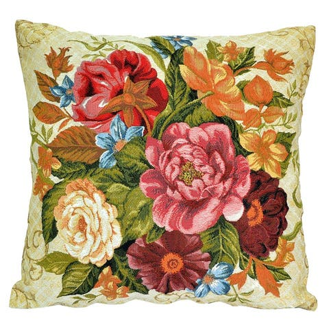 STP Goods Decorative Bouquet in June Tapestry Throw Pillow
