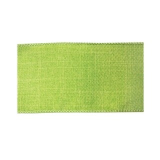 """Pack of 6 Decorative Green Denim Print Wired Polyester Ribbon 2.5"""" x 10 Yds."""