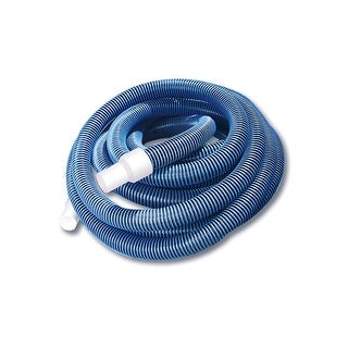 """Blue Extruded EVA In-Ground Swimming Pool Vacuum Hose with Swivel Cuff - 50' x 1.5"""""""