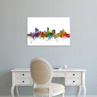 Easy Art Prints Michael Tompsett's 'Leicester England Skyline' Premium Canvas Art