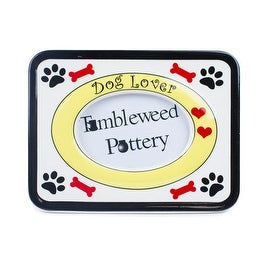Tumbleweed Pottery Dog Lover Picture Frame