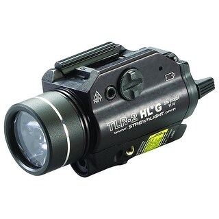 Streamlight TLR-2 HL G Rail Mounted Flashlight with Green Laser - 720 Lumens
