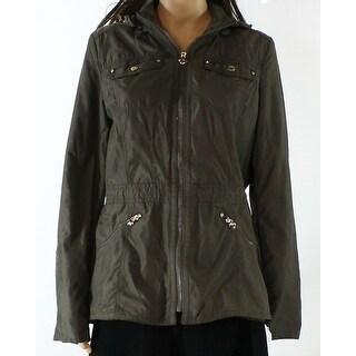 Laundry By Shelli Segal NEW Green Womens Medium M Short Anorak Jacket