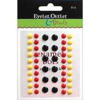 Eyelet Outlet Adhesive-Back Enamel Dots 52/Pkg-Black/Red/Yellow