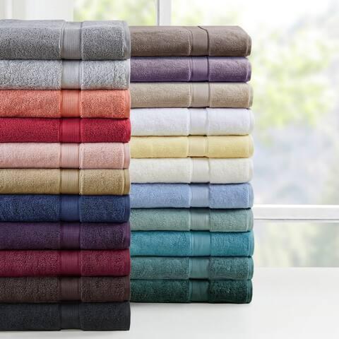 Madison Park Signature 800 GSM 100-percent Cotton 8-piece Antimicrobial Towel Set