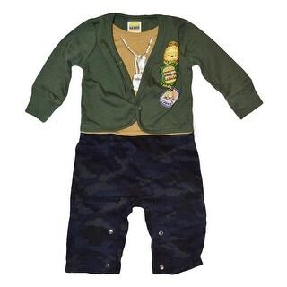 Harajuku Boys Black Pants + Green Sweater Set - Green Camo