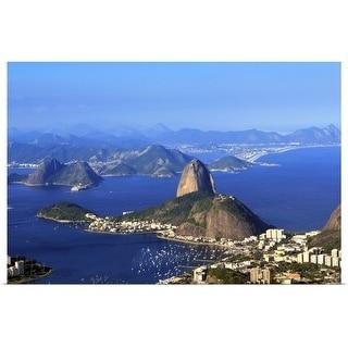 """Sugar Loaf mountain, Guanabara and Botafogo Bay, Rio de Janeiro, Brazil"" Poster Print"