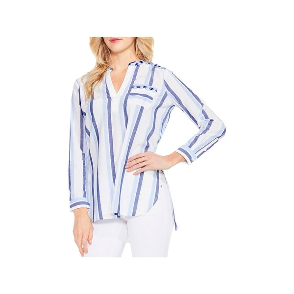 4ae72da3d429 Shop Two by Vince Camuto Womens Bleached Blues Blouse Striped ...