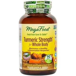 MegaFood - Turmeric Strength For Whole Body, Supports healthy aging, 90 Tablets