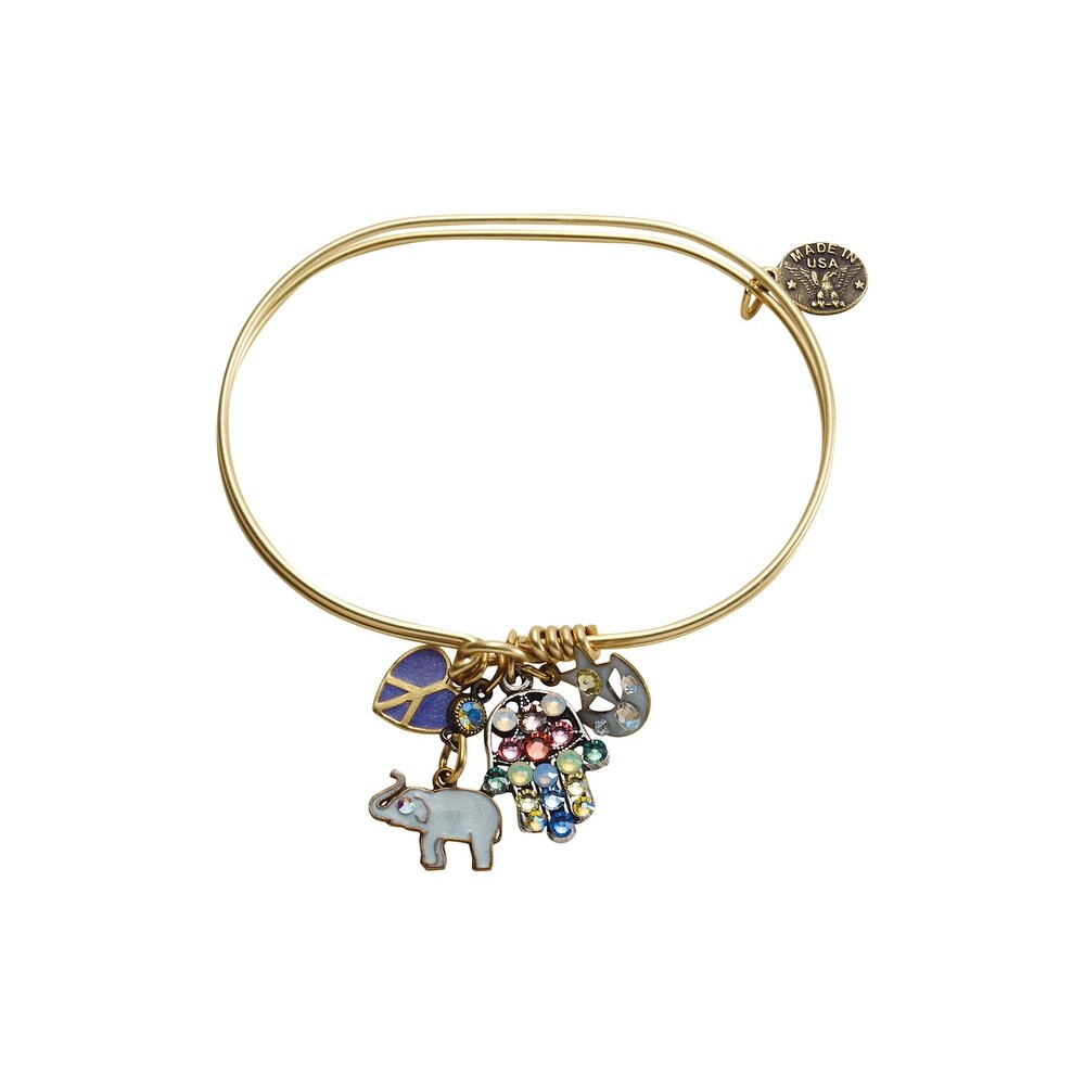 Anne Koplik Designs Bangle Charm Bracelets-Inspirational Jumble Charm Collection – Luck