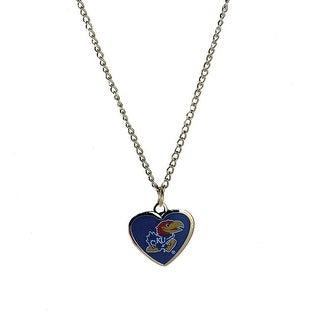 Cleanlapsports Kansas Jayhawks Heart Shaped Pendant Necklace