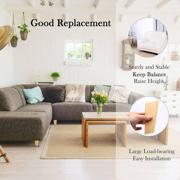 5 Inch Wood Furniture Legs Tapered Sofa