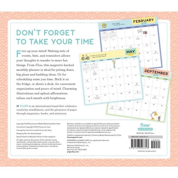 Flow Desk Calendar 2020